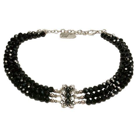 Perlen-Kropfkette Johanna (schwarz) Bild 1