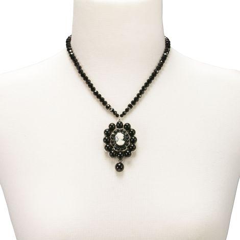 Gemmen-Halskette Wilhelmine (schwarz) Bild 3