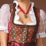 Organza-Halskette Trachtenherz (rot)