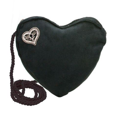 Herztasche Strassherz Pin (schwarz) Bild 1