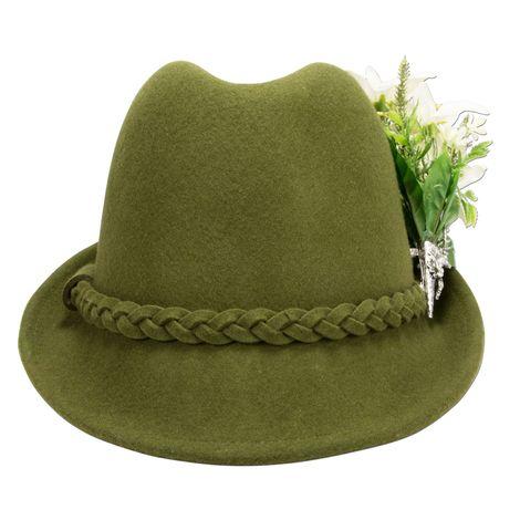Filzhut Edelweiß-Blüten (grün) Bild 5