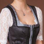 Halskette Strass-Edelweiß klein (antik-silber-farben)