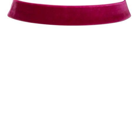 Samt-Kropfband breit (pink-fuchsia) Bild 2