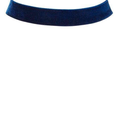 Samt-Kropfband breit (blau) Bild 2