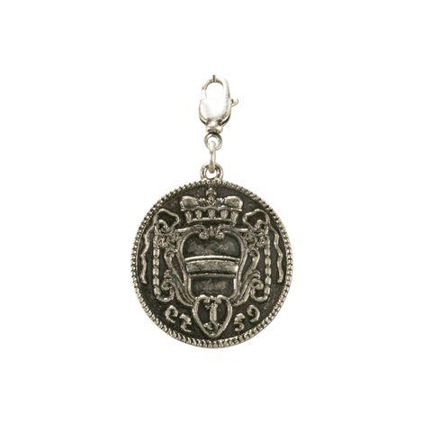Trachten-Anhänger Münze Königin Theresia (antik-silber-farben)