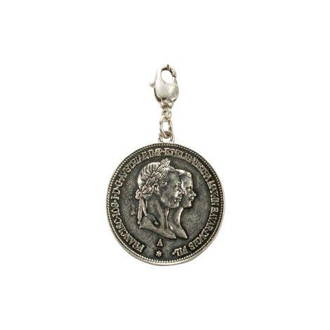 Trachten-Anhänger Münze König Max (antik-silber-farben)