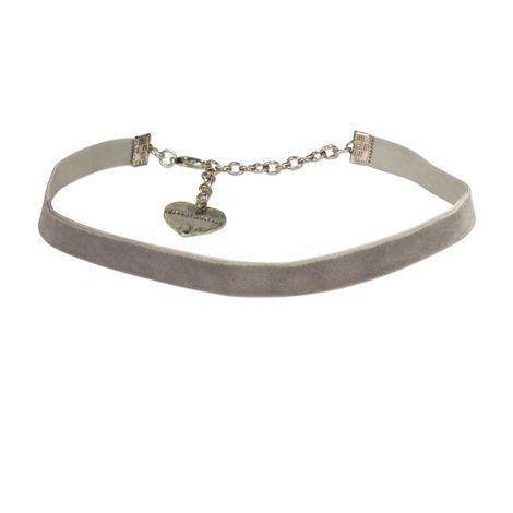Trachten-Samt-Kropfband elastisch (grau)
