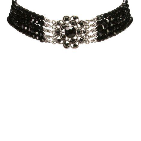 Perlen-Kropfkette Elvira (schwarz) Bild 2