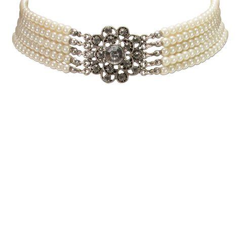 Perlen-Kropfkette Elvira (creme-weiß) Bild 3