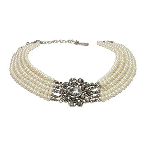 Perlen-Kropfkette Elvira (creme-weiß) Bild 1