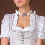 Perlen-Kropfkette Elvira (creme-weiß)