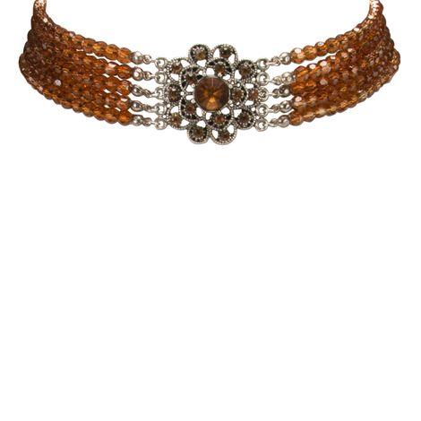 Perlen-Kropfkette Elvira (braun) Bild 3