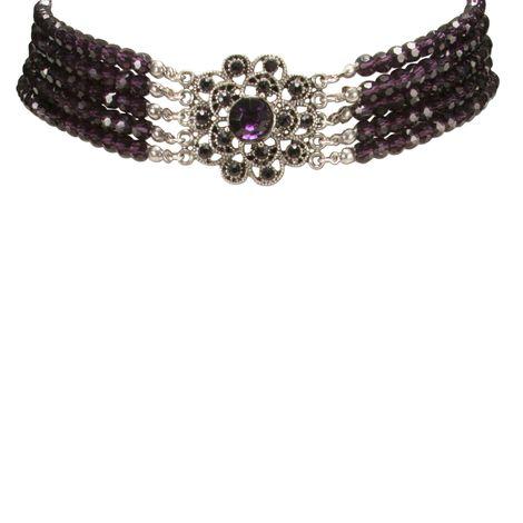 Perlen-Kropfkette Elvira (lila-violett) Bild 2