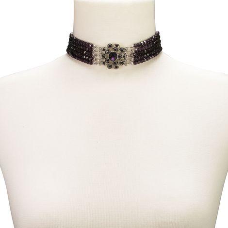 Perlen-Kropfkette Elvira (lila-violett) Bild 3