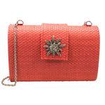 Trachtentasche Strass-Edelweiß (rot)
