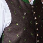 Ansteck-Pins springender Hirsch 2er-Set (antik-silber-farben)