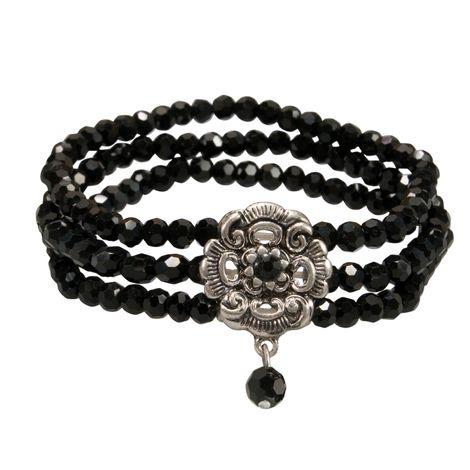 Perlen-Trachten-Armband Frederike (schwarz)