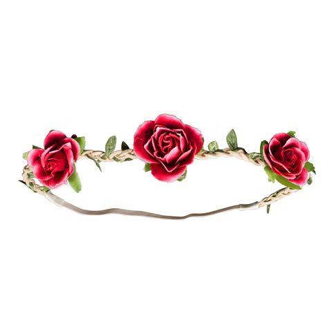 Haarband Rosen-Blüten (rot) Bild 2
