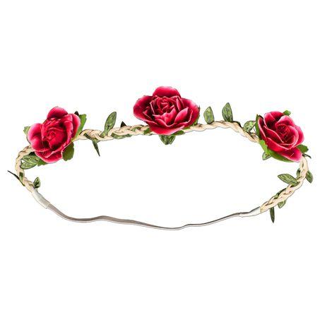 Haarband Rosen-Blüten (rot) Bild 1