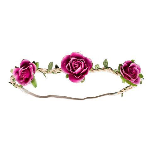 Haarband Rosen-Blüten (pink-fuchsia) Bild 2