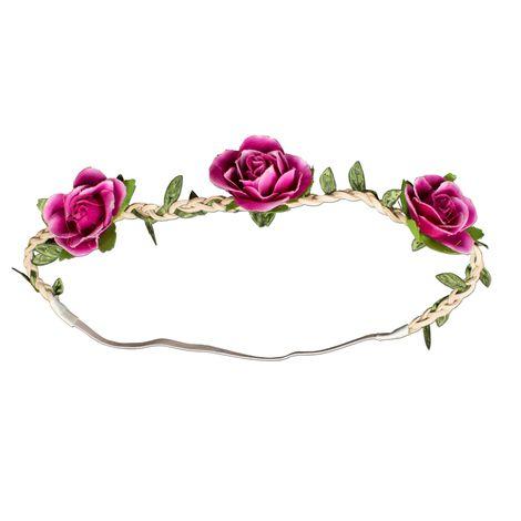 Haarband Rosen-Blüten (pink-fuchsia) Bild 1