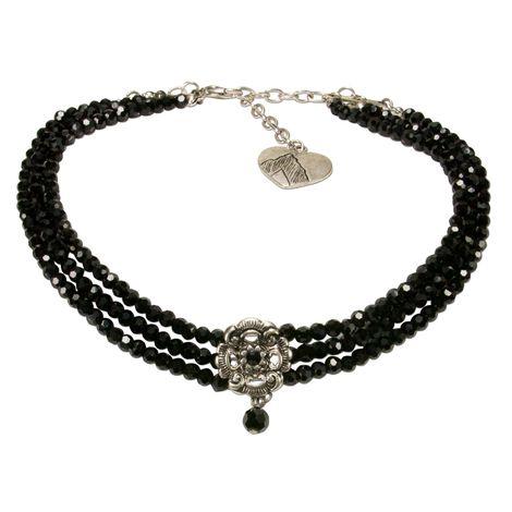 Perlen-Kropfkette Frederike (schwarz) Bild 1