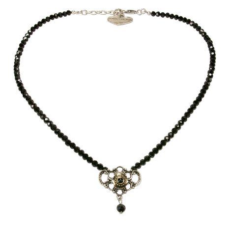 Perlen-Halskette Hedi (schwarz) Bild 1