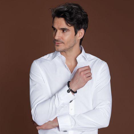 Holzperlen-Armband Münze (schwarz) Bild 2
