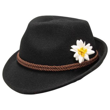 Filzhut Edelweiss (schwarz) Bild 1