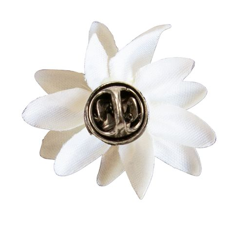 Pin Edelweiss-Stoffblüte (creme-weiß) Bild 2