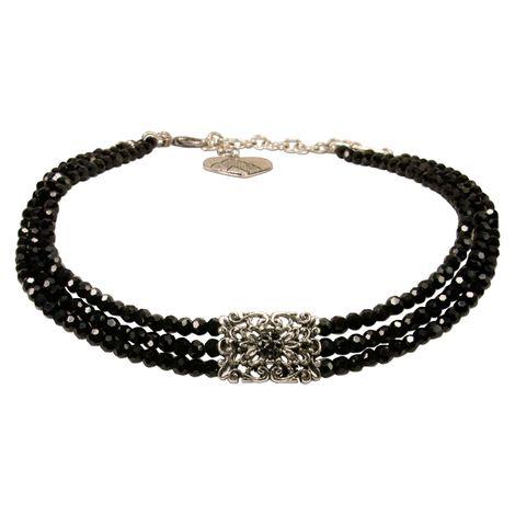 Perlen-Kropfkette Edda (schwarz) Bild 1