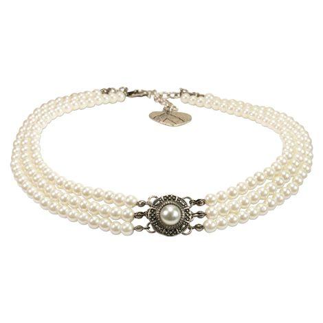 Perlen-Kropfkette Karla (creme-weiß) Bild 1