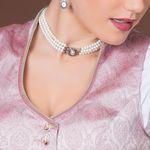 Perlen-Kropfkette Karla (creme-weiß)