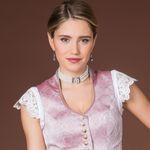 Perlen-Kropfkette Elisa (creme-weiß)