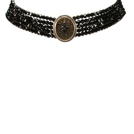 Perlen-Kropfkette Lotte (schwarz) Bild 2