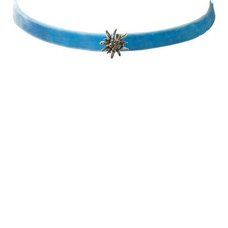 Samt-Kropfband Edelweiss mini (hell-blau) Bild 2