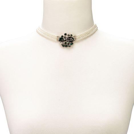 Perlen-Kropfkette Theresa (grün) Bild 4