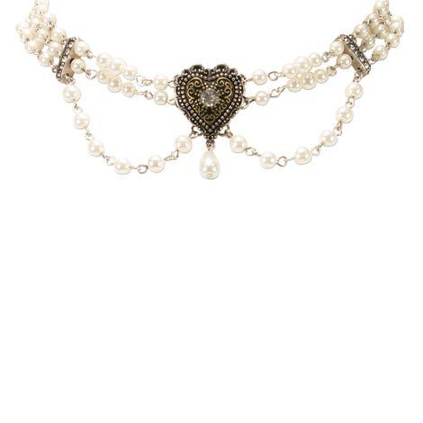 Perlen-Kropfkette Trachtenherz (creme-weiß) Bild 3