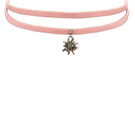 Wickelband-Halskette Edelweiß (rosa-rosé) Bild 2