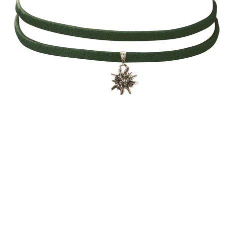 Wickelband-Halskette Edelweiß (grün) Bild 3