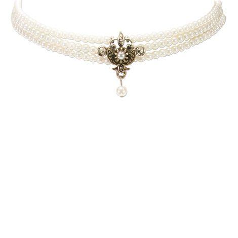 Perlen-Kropfkette Lea (creme-weiß) Bild 3