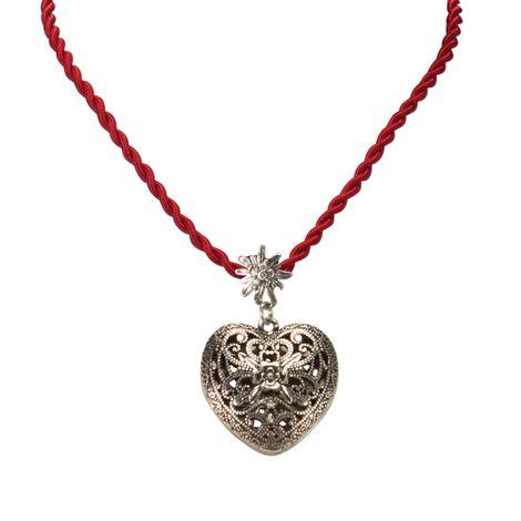 Kordel-Halskette Trachtenherz (rot) Bild 2