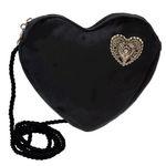 Herztasche Trachtenherz Pin (schwarz)