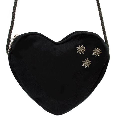 Herztasche Strass-Edelweiß Mini (schwarz) Bild 3