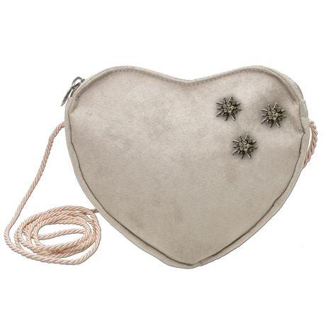Herztasche Edelweiss Mini Pins (taupe-grau) Bild 1