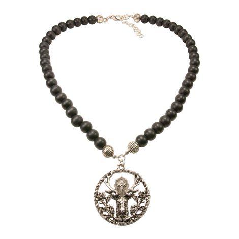Holzperlen-Halskette Hubertus (schwarz) Bild 1