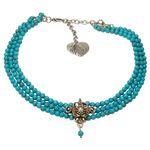 Perlen-Kropfkette Lea (türkis)