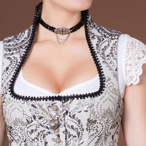 Perlen-Kropfkette Thea (schwarz) Bild 2