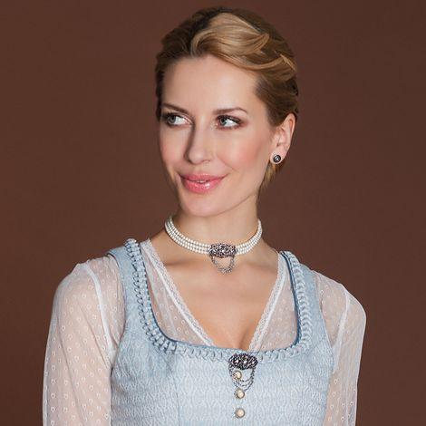 Perlen-Kropfkette Thea (creme-weiß) Bild 2