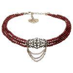 Perlen-Kropfkette Thea (rot)